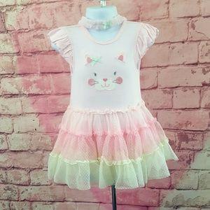 Baby Girl Popover Tutu Dress Kitty Sz 18M